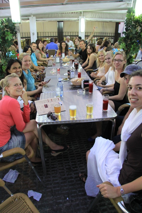 New students are welcomed with drinks and lunch