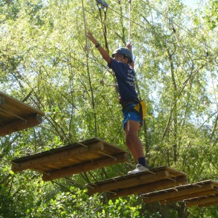 Tree-top adventure at Summer Camp