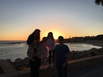Watching the sunset with Homestay Family