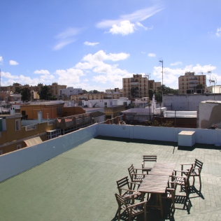 Rooftop terrace at Sparkville accommodation
