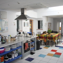 Kitchen and communal area